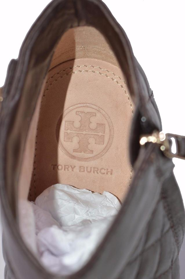 fdb5fa9e2c27 Tory Burch Brown Women s Leila Quilted Leather Wedge Ankle Boots ...