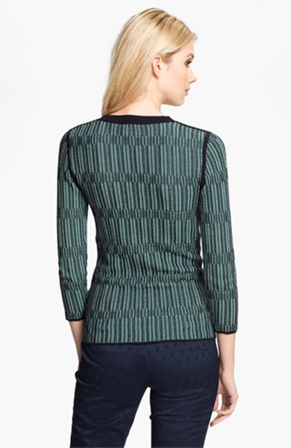 Tory Burch Plaid Textured Sweater