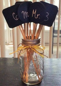 Michaels Chalkboard Signs - Small Reception Decoration