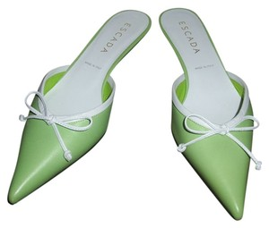 Escada Light Green Mules
