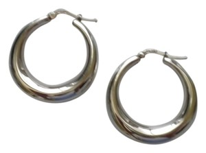 Sterling Silver Graduated Hoops