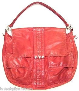 Tylie Malibu Pyramid Stud Hobo Messenger In Leather Color Shoulder Bag