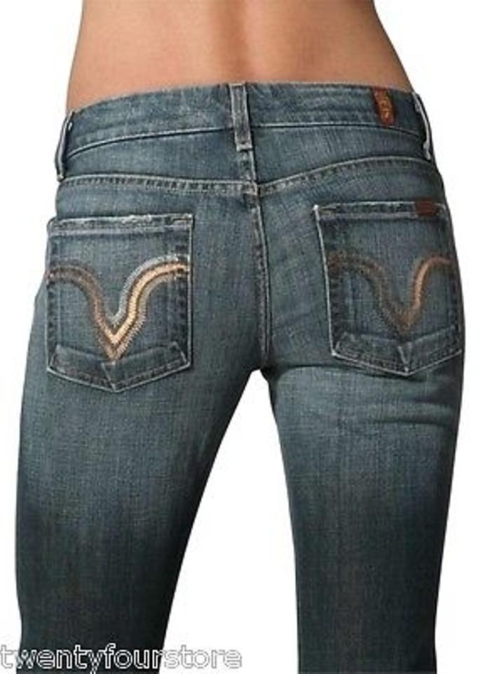 7 For All Mankind Seven For All Mankind Jeans Kate Straight Leg In  Caribbean Foil Pocket 8aa6a17e3