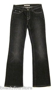 J Brand 318 Leg Mid Rise In Ash Black Embroidery Pocket 27 Boot Cut Jeans