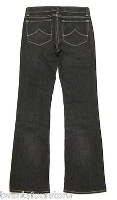 J Brand 318 Leg Mid Rise In Ash Black Embroidery Pocket 27 Boot Cut Jeans Image 1