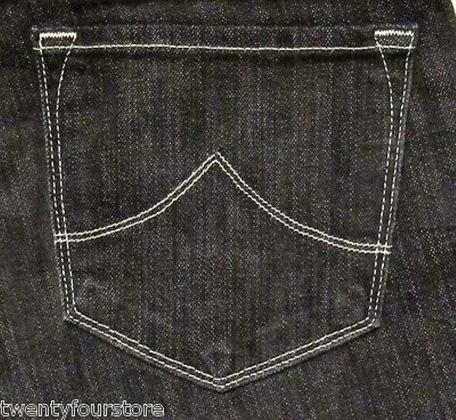 J Brand 318 Leg Mid Rise In Ash Black Embroidery Pocket 27 Boot Cut Jeans Image 2