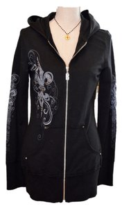 Bejeweled by Susan Fixel Long Sweatshirt Hooded Bling Sweatshirt
