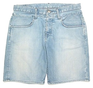 Helmut Lang Jeans Boyfriend In Light Denim 27 Cut Off Shorts Blue