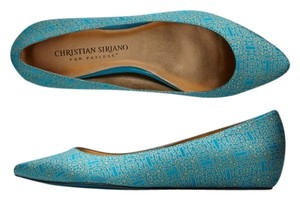 Christian Siriano for Payless Satin Saunter Project Runway Spring Fall Teal Flats