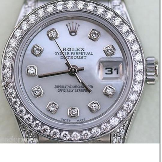 Rolex Rolex oyster pearl 2 c5s diamonds w/ Stainless Steel Watch Image 2