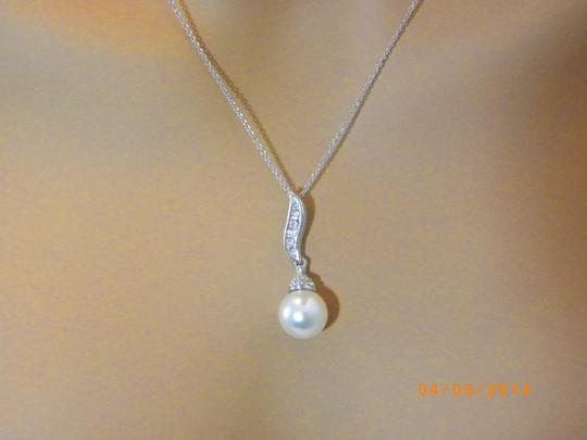 Cream 18k Real Gold Plated Pearl Made with Swarovski Crystal Jewelry Set