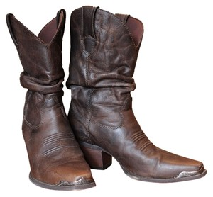 Durango Cowboy Western Slouch Slouchy Leather Brown Boots