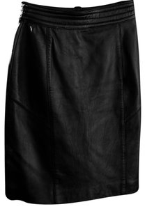 Brass Plum Nordstrom Leather Junior Skirt black