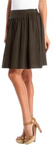 Balenciaga Green Dirndl Mini Skirt Olive