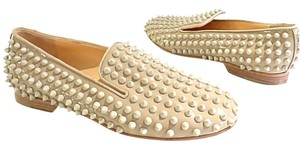 Christian Louboutin Bn Resort Printed Spike Intern Loafer beige Flats
