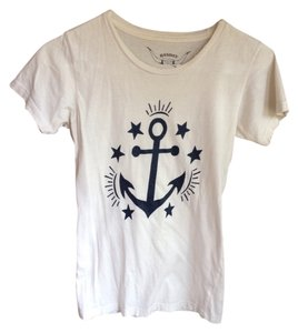 bandit brand Anchor Distressed T Shirt White