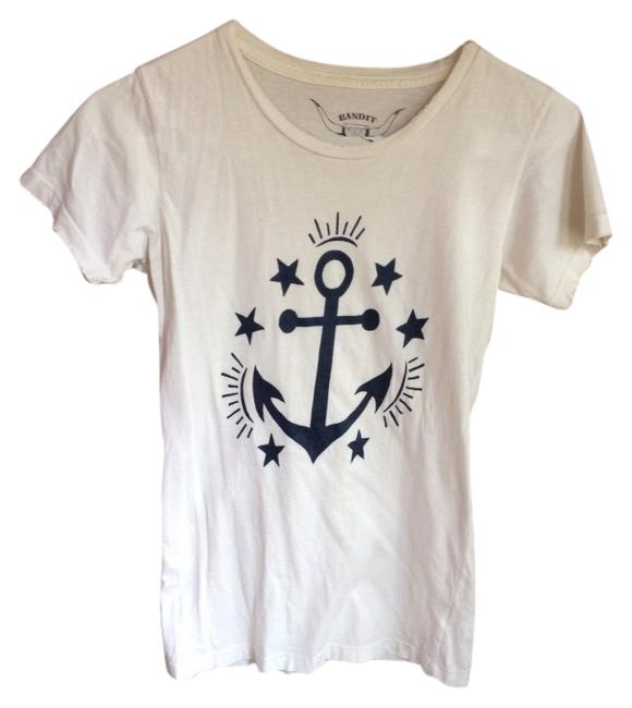 bandit brand Anchor Distressed Tee Santa Cruz T Shirt White