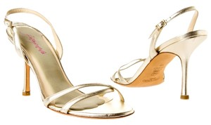 Jimmy Choo Leather Gold Metallic Sandals