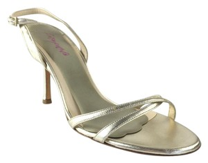Jimmy Choo Gold Leather Slingback Gold Metallic Sandals