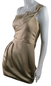 Armani Collezioni Silk Off The Draped Feminine Dress