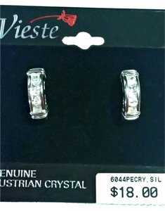 Vieste Awesome Vieste Silver Channeled Princess Cubic Zirconia Studs