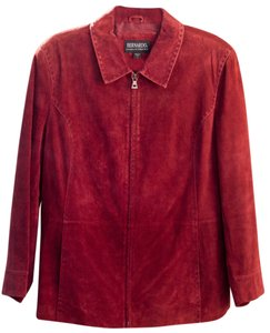 Bernardo Nordstrom Suede Autumn terra cotta Leather Jacket