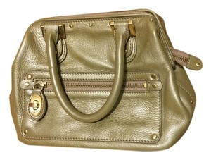 Ellen Tracy Satchel in Gold