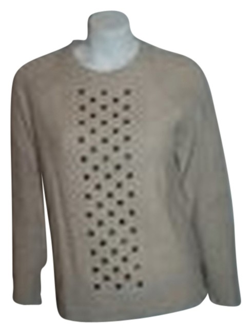 Preload https://img-static.tradesy.com/item/8489887/jcrew-ivory-36-crew-neck-cable-knit-wstuds-sweaterpullover-size-8-m-0-1-650-650.jpg