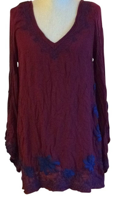 Preload https://img-static.tradesy.com/item/8489965/free-people-maroon-tunic-size-8-m-0-2-650-650.jpg