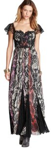 Free People Wild Hearts Maxi Wild Snake Size 6 Dress