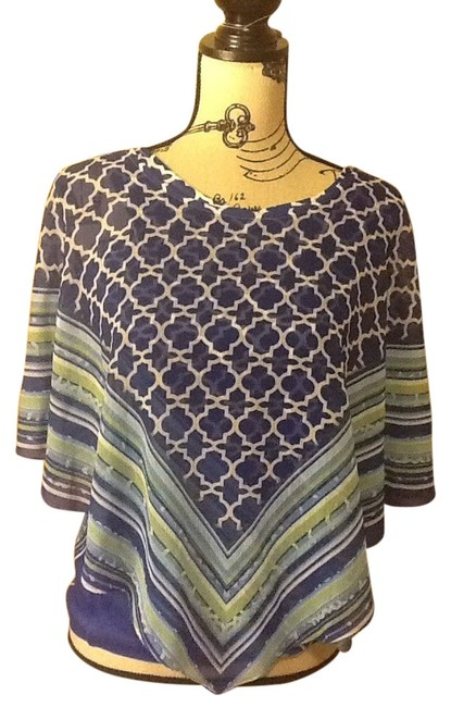 Preload https://img-static.tradesy.com/item/8490547/one-world-blue-colorful-tank-underneath-poncho-blouse-size-6-s-0-3-650-650.jpg
