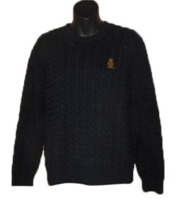 Ralph Lauren Nautical Casual Crewneck Cableknit Cotton Sweater