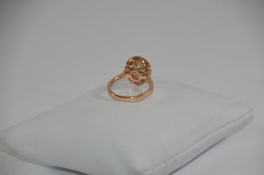 Peridot Center 14K Rose Gold 0.60ct. Genuine Diamond 3CT. Peridot Cocktail SZ 7 Ring