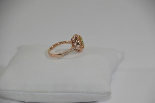 Peridot Center 14K Rose Gold 0.60ct. Genuine Diamond 3CT. Peridot Cocktail SZ 7 Ring Image 4