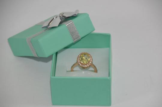 Peridot Center 14K Rose Gold 0.60ct. Genuine Diamond 3CT. Peridot Cocktail SZ 7 Ring Image 5