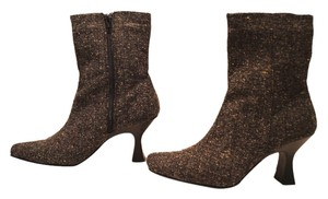 Chinese Laundry Black White Tweed Boots