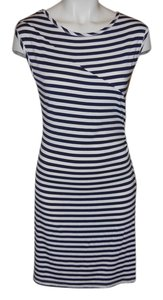 Yala short dress black & white Striped Knit on Tradesy