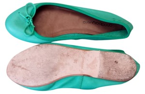 Anna Baiguera Leather Anna Baiguera Green/Teal Flats