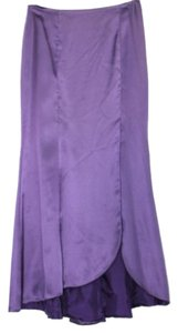 Other Satin Silk Long Maxi Skirt PURPLE