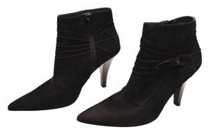 Sam & Libby & Suede Leather Leather Soles Black Boots