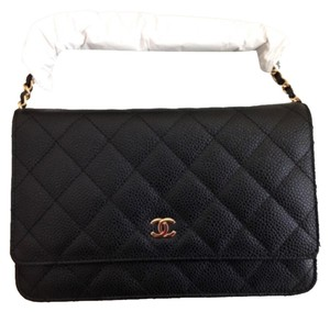 Chanel Quilted Caviar Wallet on Chain Cross Body Bag