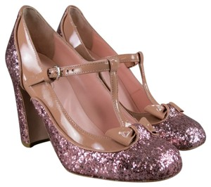 Valentino Patent Leather Glitter Pink Pumps