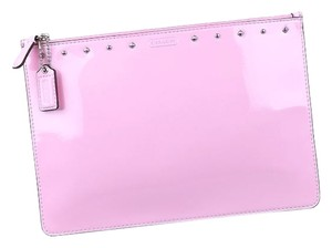 Coach Coach Studded Liquid Gloss Medium Tech Pouch in Patent Leather F68376