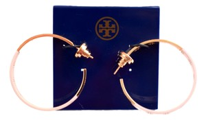 Tory Burch Tory Burch Dipped Pierce T Hoop Earrings