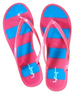 Forever 21 Pink And Blue Sandals
