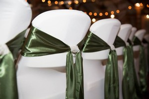 Olive Green Chair Sashes