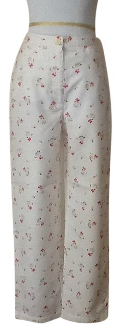 LizSport Relaxed Pants White floral