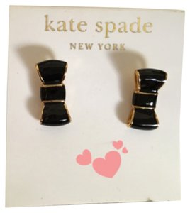 Kate Spade Kate Spade NY Black Bow Stud Earrings
