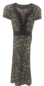 BCBGMAXAZRIA short dress Navy, green multi on Tradesy