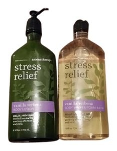 Bath and Body Works Stress Relief Bath & Lotion
